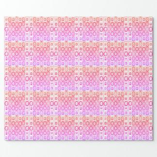 Herz-Schatz-Rosa-Sammlungsgeschenke Geschenkpapierrolle