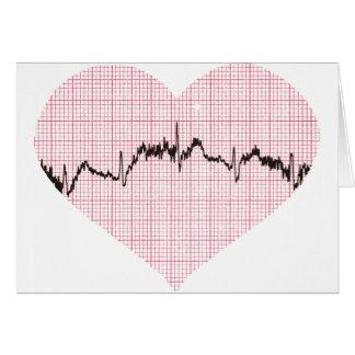 Herz-Schlag III Grußkarte