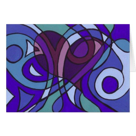 Herz-Schnüre Grußkarte