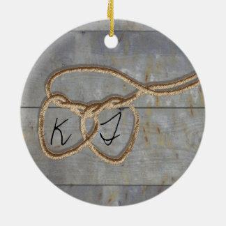 Herz-Schnüre Keramik Ornament