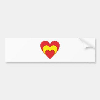 Herz Spanien heart Spain Espana Autoaufkleber
