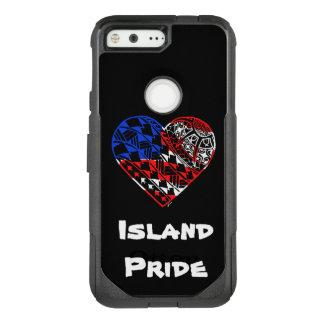 Herz-Tätowierungs-Insel-Stolz USA OtterBox Commuter Google Pixel Hülle