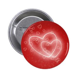 Herz-Thema-romantisches Abzeichen Runder Button 5,7 Cm