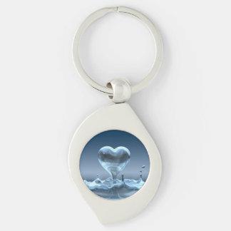 Herz-Tropfen-Schlüsselkette Silberfarbener Wirbel Schlüsselanhänger