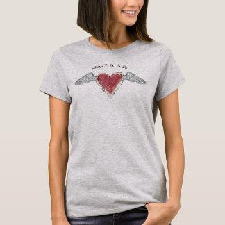 """Herz u."" grundlegender T - Shirt Soul-2"