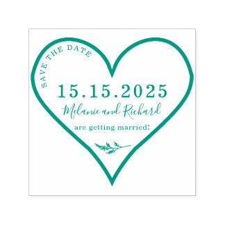 Herz-u. Heide-Name-Skript Save the Date Permastempel