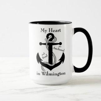 Herz und Soul verankert in Wilmington Tasse