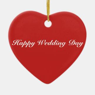 Herz-Verzierung - glücklicher Hochzeitstag Keramik Ornament