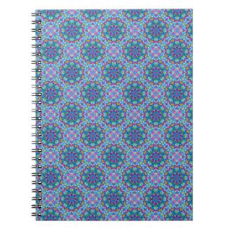 Herz-Vintages Kaleidoskop-   Notizbuch Spiral Notizblock