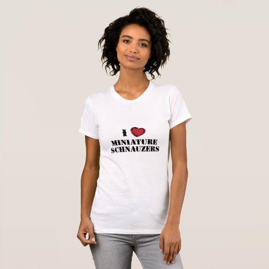 (Herz) Zwergschnauzer I T-Shirt