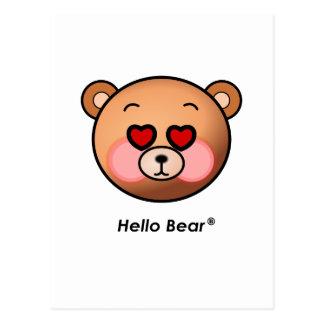 Herzaugen hallo Bär Postkarte