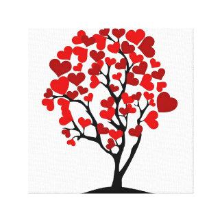 Herzbaum-Leinwand Leinwanddruck