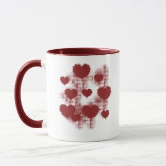 Herzen auf der Wand Tasse