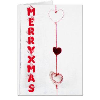 Herzen der frohen Weihnachten Grußkarte