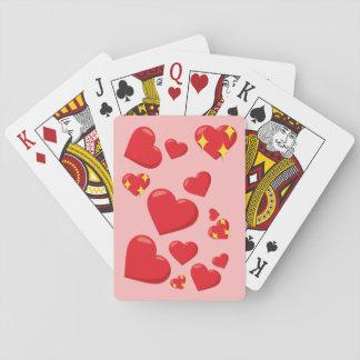 Herzen Emoji Spielkarten