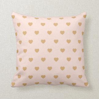 Herzen erröten GoldWurfs-Kissen Kissen