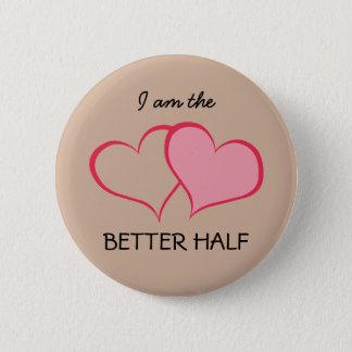 Herzen ihre BESSERE HÄLFTE sie+SIE (1 von 2) Runder Button 5,1 Cm