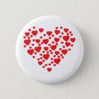 Herzen in der Herzikone Runder Button 5,1 Cm