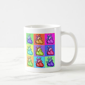 Herzen (Pop-Art) Kaffeetasse