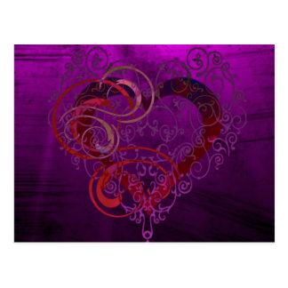 Herzen Postkarte