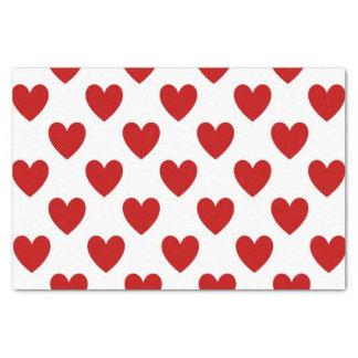 Herzen Seidenpapier