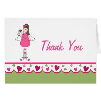 Herzen und Engel danken Ihnen Anmerkungs-Karte Mitteilungskarte