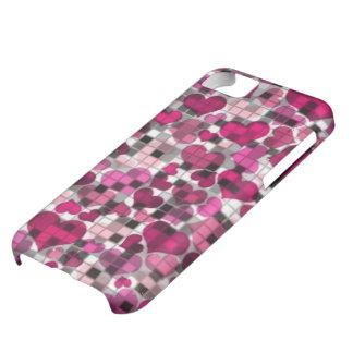 Herzen und Karos, rosa iPhone 5C Hülle