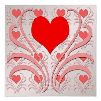Herzen und Rebe-Plakat Poster