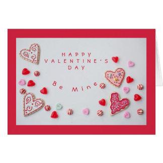 Herzen und Süßigkeits-Valentinsgruß Karte