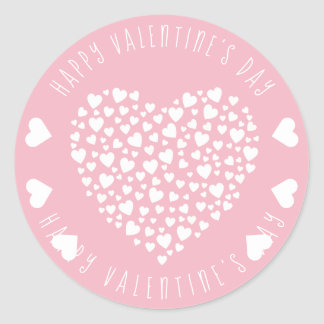 Herzen voll des Herz-Valentinstags Runder Aufkleber