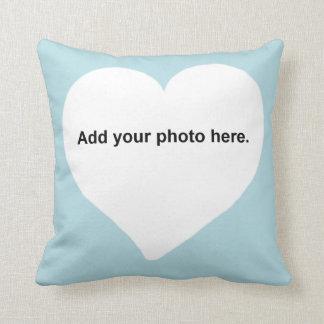 Herzform addieren Ihr Foto Kissen