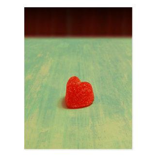 Herzgeformter Gumdrop Postkarte
