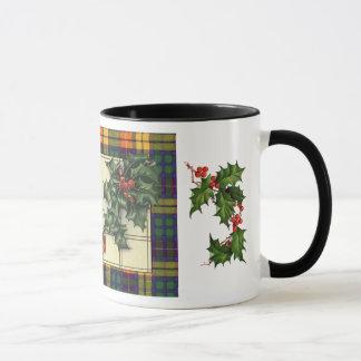 Herzliche Weihnachtsgrüße, Buchanantartan Tasse