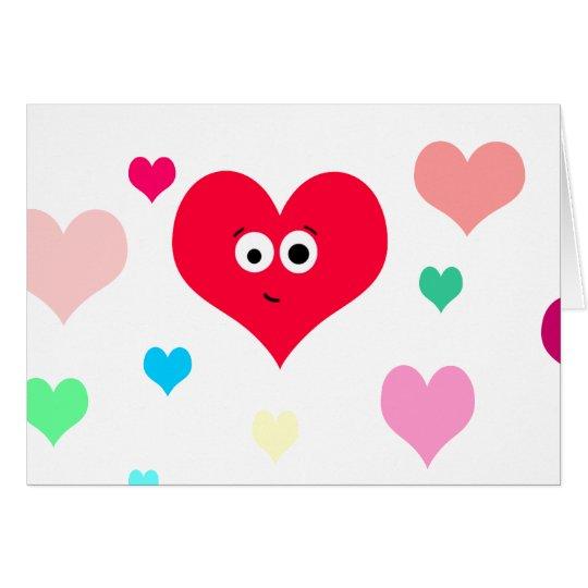 Herzliches Herz Grußkarte