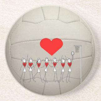 Herznetball-Ball-Entwurf Getränke Untersetzer