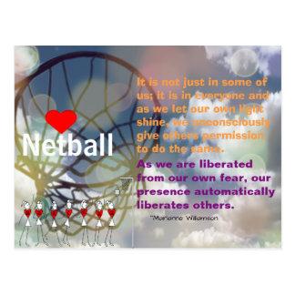 Herznetball-Entwurf und inspirierend Zitat Postkarte