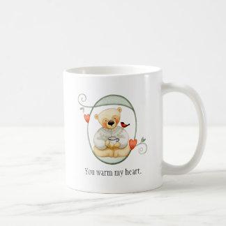 Herzs-Valentinsgruß-Teddybär Kaffeetasse