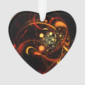 Herzschlag-abstraktes Kunst-Acryl-Herz Ornament