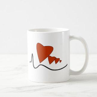 Herzschlag-Tasse Tasse