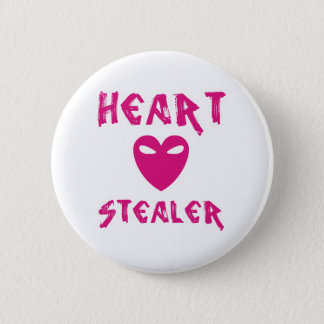 Herzstealer-Knopf Runder Button 5,7 Cm