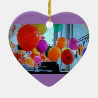 Herzverzierung der Partyballone Keramik Ornament