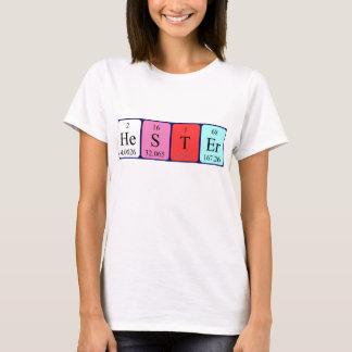 Hester Namen-Shirt periodischer Tabelle T-Shirt