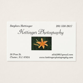 Hettinger Fotografie Visitenkarten