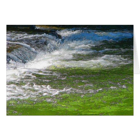 Hetzendes Wasser Grußkarte