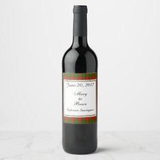Heu-schottischer Hochzeits-Wein-Aufkleber Weinetikett