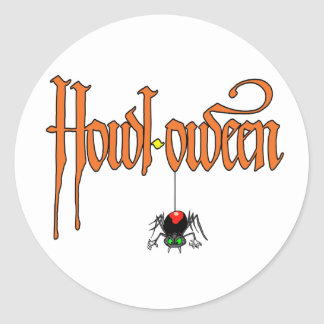 Heulen-oween Halloween-Aufkleber Runder Aufkleber