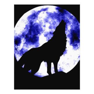 Heulenwolf am Mond Flyerbedruckung