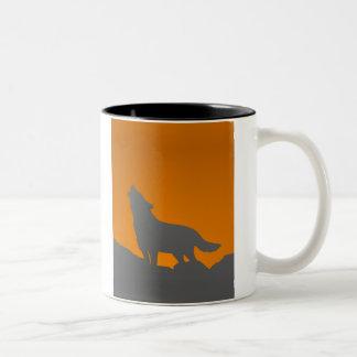 Heulenwolf-Tasse Zweifarbige Tasse