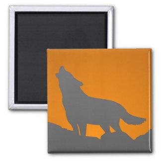 Heulenwolfmagnet Quadratischer Magnet