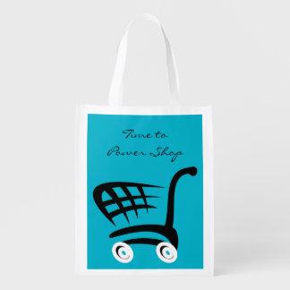 Heure d'actionner le magasin sacs d'épicerie réutilisables